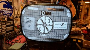 Zenith 19R22 TV Test Pattern
