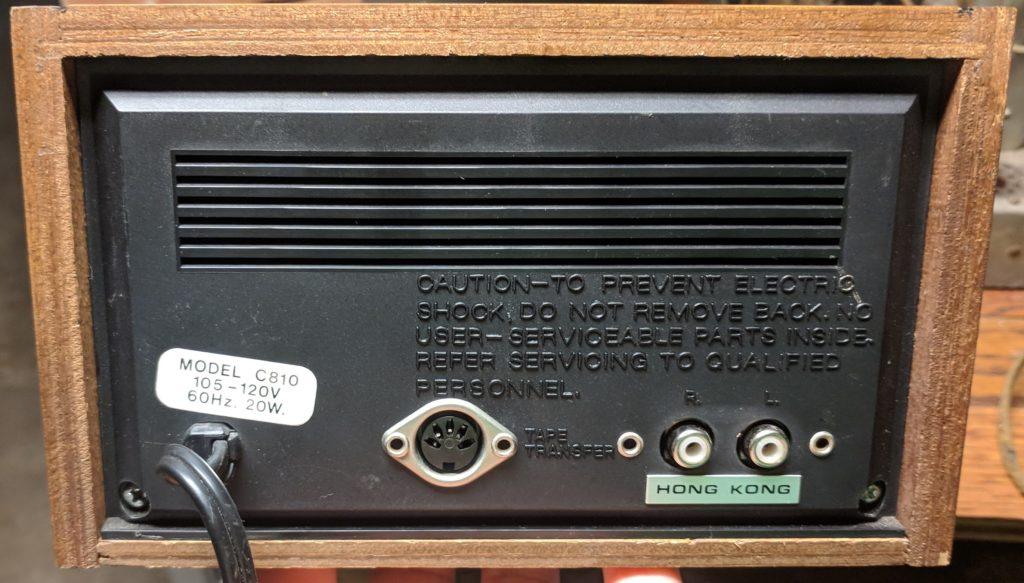 Grundig C810 8 Track - Rear View