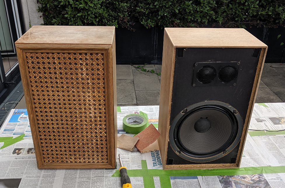 HiFi Speakers in a sanded condition